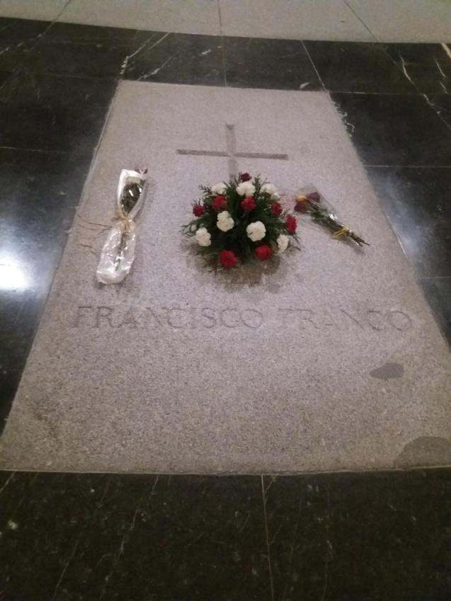Francisco Franco's tomb at the Valley of the Fallen