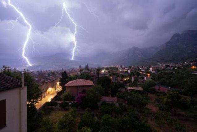 Lightning yesterday evening