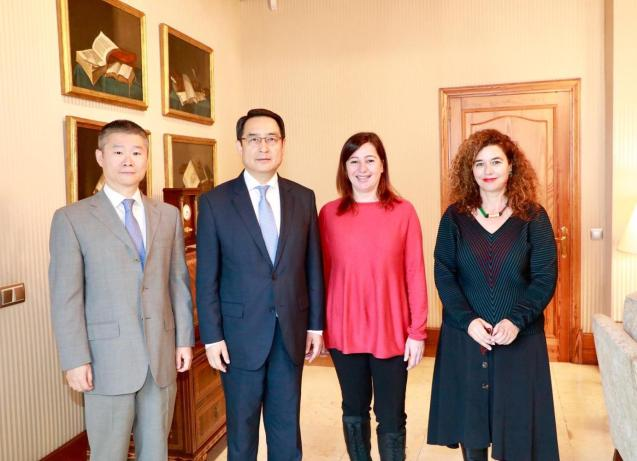 The Chinese ambassador to Spain, Lyu Fan in Palma