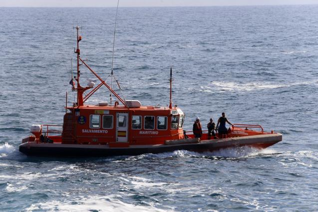 One of the search and rescue boats