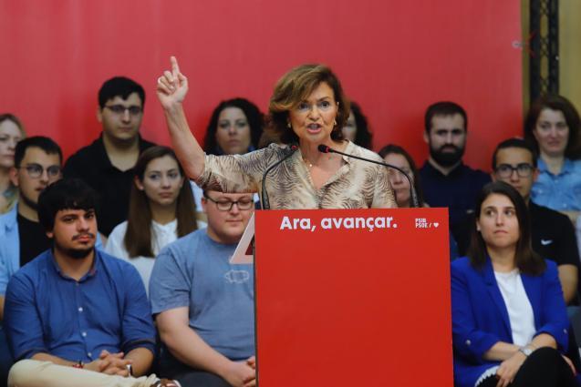 Deputy prime minister, Carmen Calvo