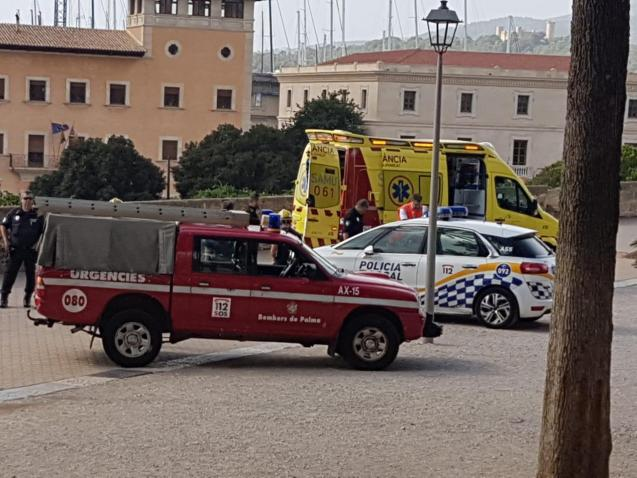 Emergency services at the scene in Palma