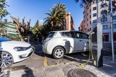 Electric car charging points in Palma.