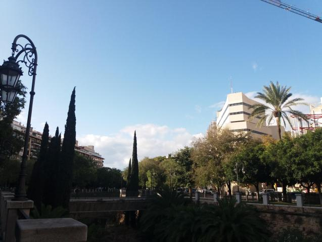 Partly cloudy in Palma