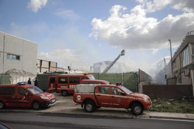 Fire at the paper recycling plant in Marratxi.
