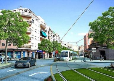 An artist's impression of the tram link from Palma to the airport.