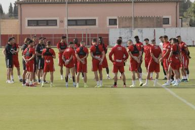 Reall Mallorca at the training ground of Son Bibiloni.