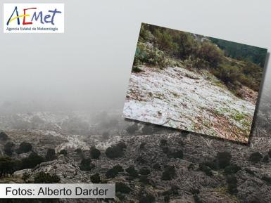 Snow in the Tramuntana Mountains
