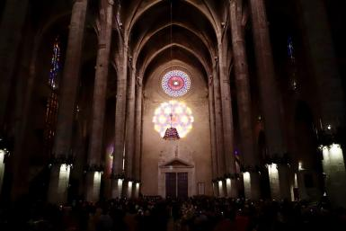Today's festival of light at Palma's Cathedral.