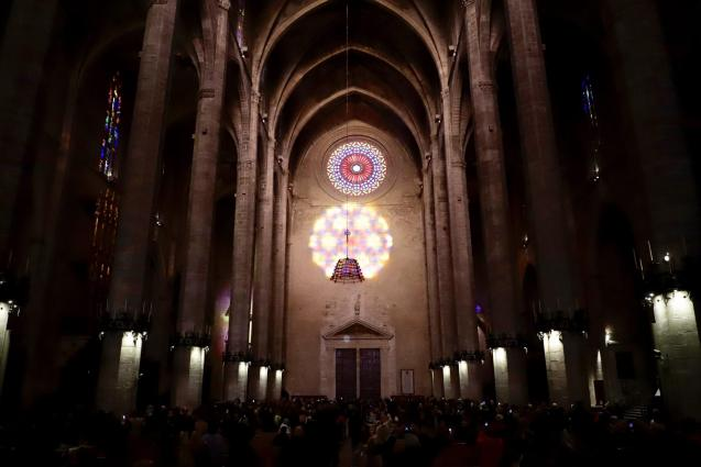 The light show at Palma's Cathedral