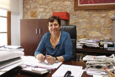 Maria Pons, Mayor of Santanyi. Archive photo.