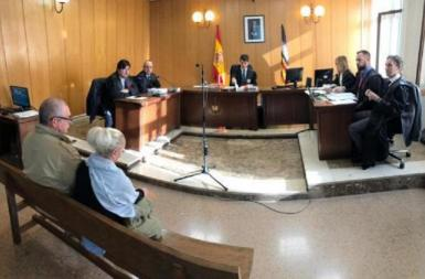 The accused in court during the trial held in Palma.