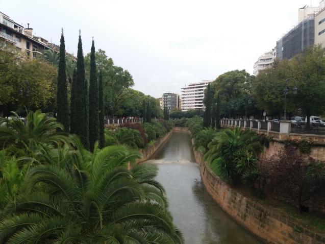 Overcast and raining in Palma