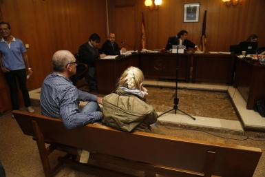 The accused in court in Palma.
