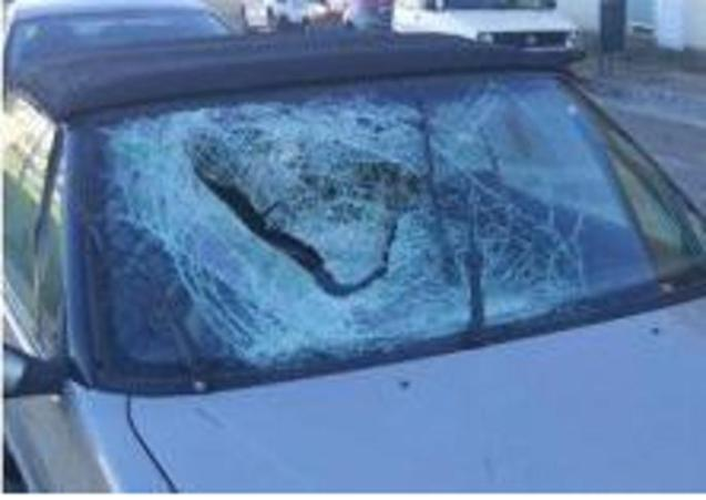 The car involved in the incident