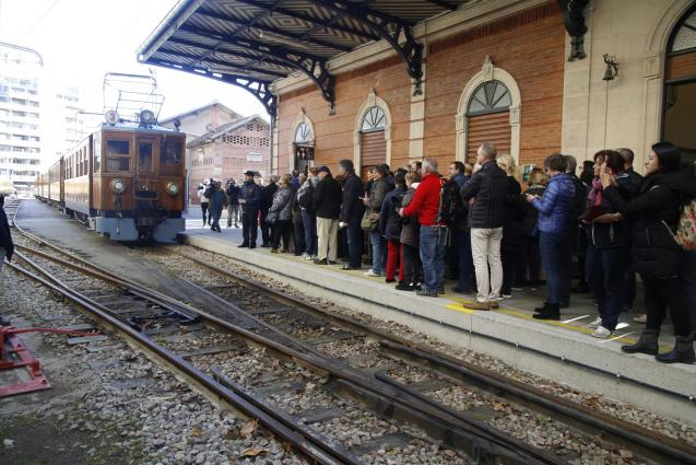 The Railway station of the Ferrocarril of Soller in Palma