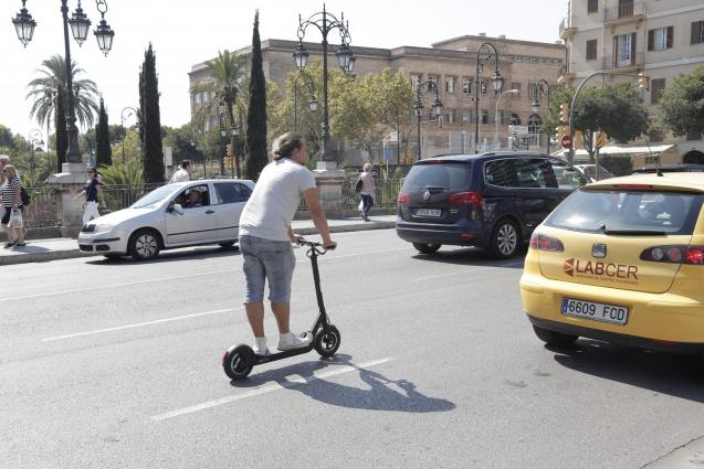 E-scooters are very popular in Palma
