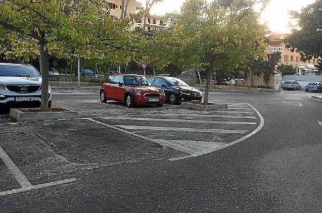 The car park where the attack took place in Santa Ponsa