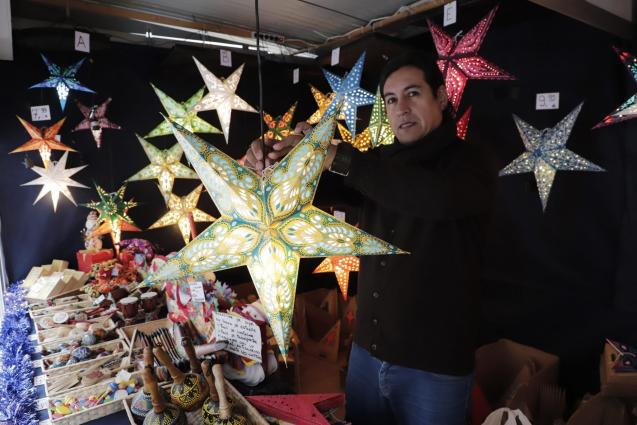 Christmas craft market in Plaza Major, Palma