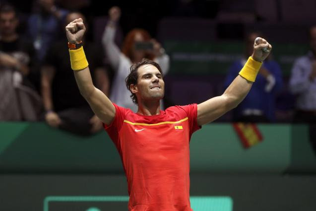 Nadal celebrates his victory