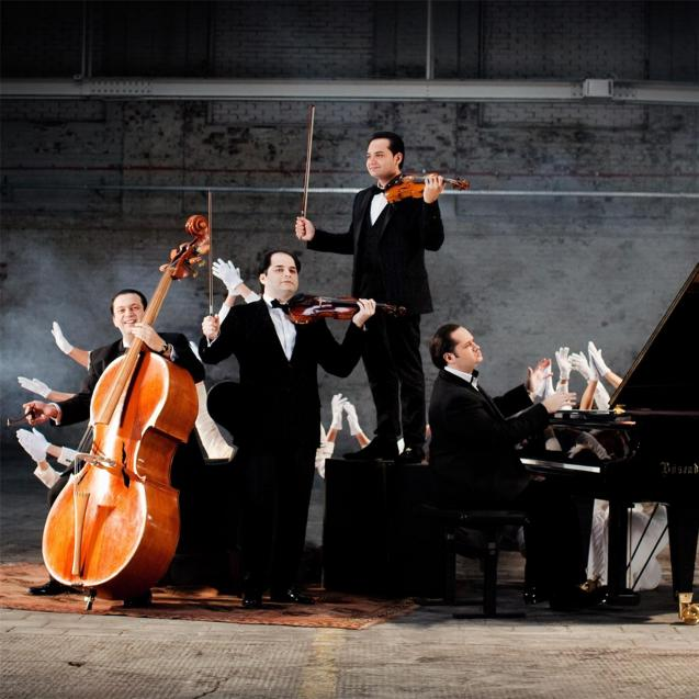 Janoska Ensemble (violins, double bass, piano); perform this evening at CaixaForum