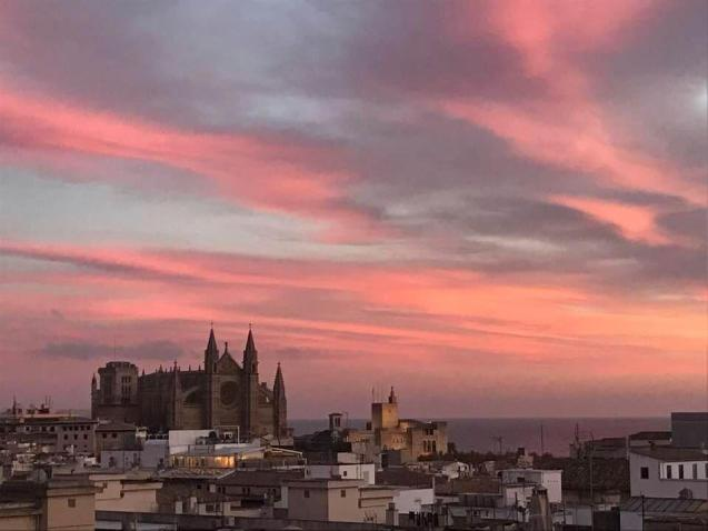 A stunning sunset over Palma this evening