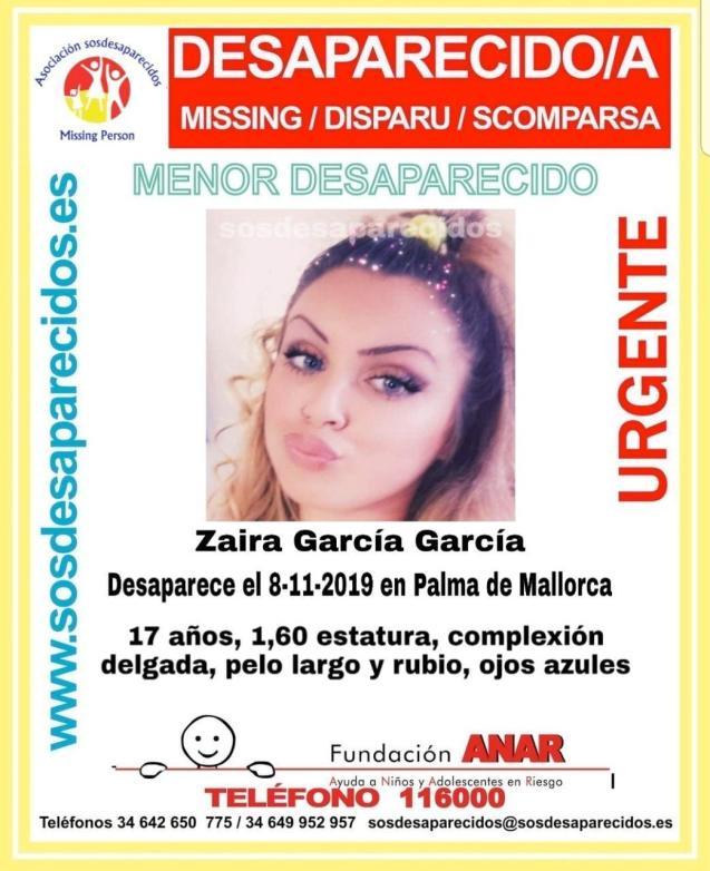 Missing poster for Zaira Garcia Garcia