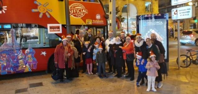 Daily Bulletin bus tour of Palma Christmas lights