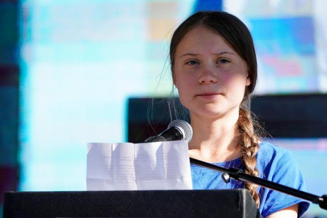 Climate change activitst Greta Thunberg in Los Ángeles