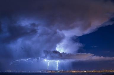 More than 8,000 lightning stirkes.