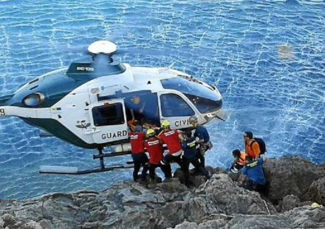 The body was airlifted to Son Sant Joan airbase