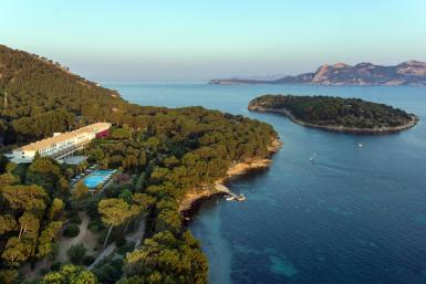 Aerial view of the Hotel Formentor. Archive photo.