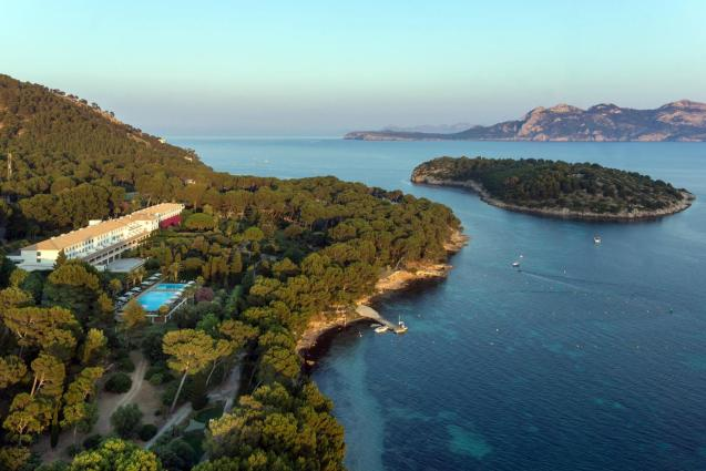 Aerial view of the Hotel Formentor