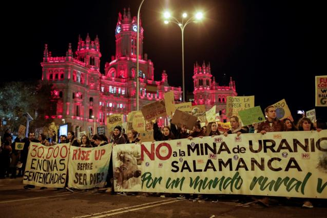 Climate Change protest in Madrid