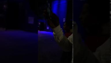 Brawl between customers and bouncers outisde Palma nightclub.