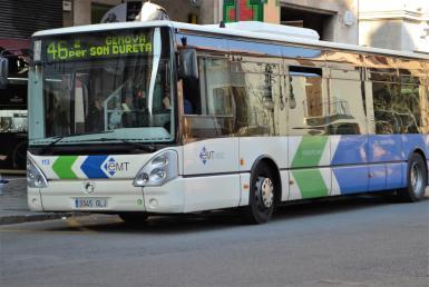 EMT bus services in Palma, Majorca. Archive photo.