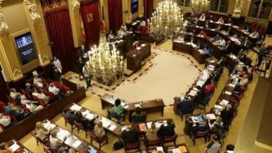 The Balearic parliament in session.