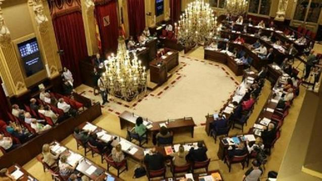 The Balearic parliament in session