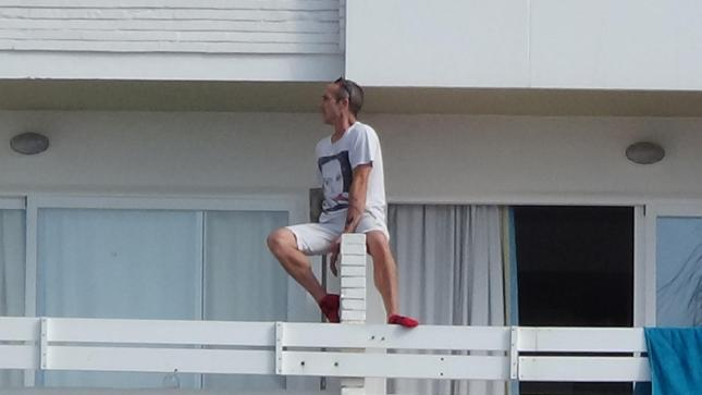 Balconing is climbing from one balcony to another or jumping into the pool