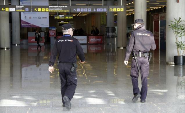 Local police at Palma airport