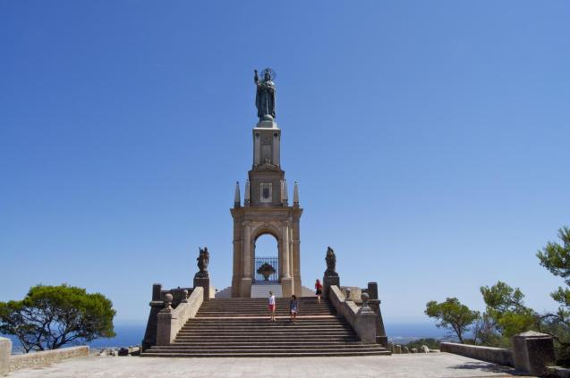 The monument of Christ the King of San Salvador, in Felanitx
