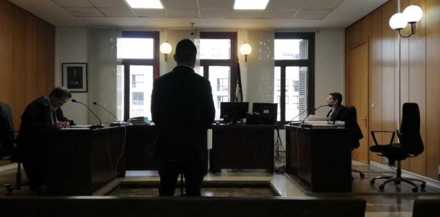 Colombian man in court.