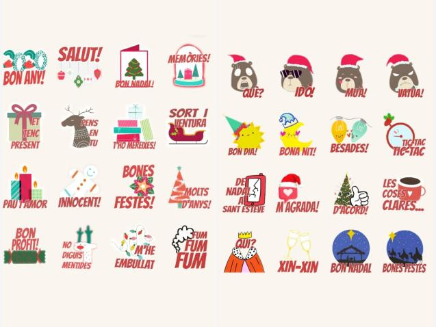 Some of the stickers you can download
