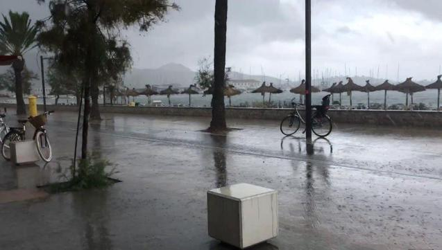 Another wet and windy day in the Balearics