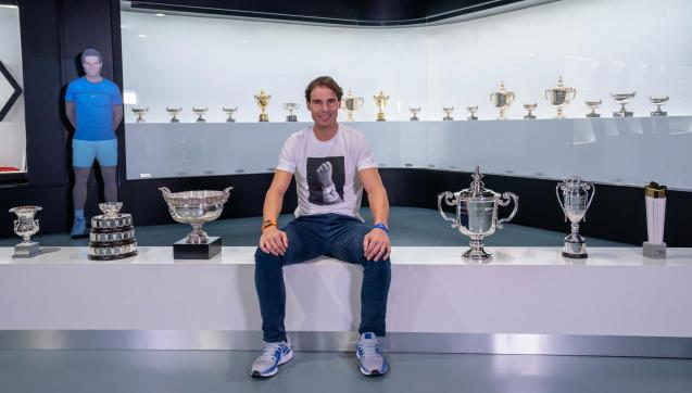 Rafa Nadal at his Academy in Manacor