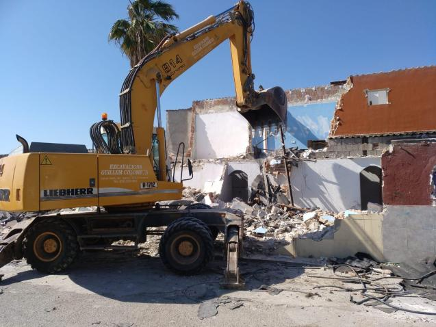 Some homes have already been demolished in the Son Banya shanty town