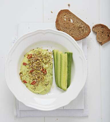Avocado, Chili & Lime Dip with Dukkah
