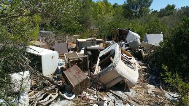 Abandoned rubbish is unfortunately commonplace