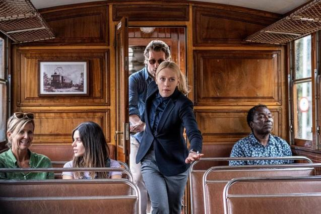 The Mallorca Files filming on the Soller Train