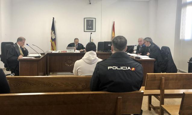The accused at court in Palma